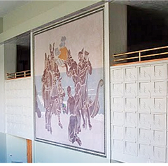 Barnum Hall Viking Mural in Lobby